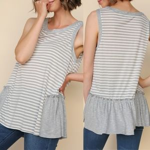 Sleeveless Striped Top {Umgee USA}